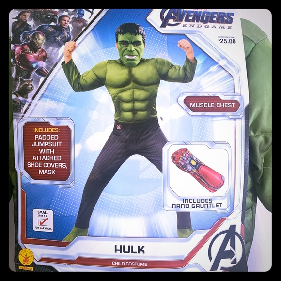 Marvel Other - NWT Hulk costume size 3/4t